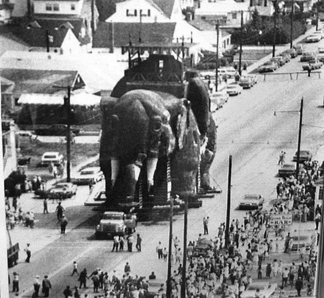 Lucy the Margate Elephant Saved circa 1970